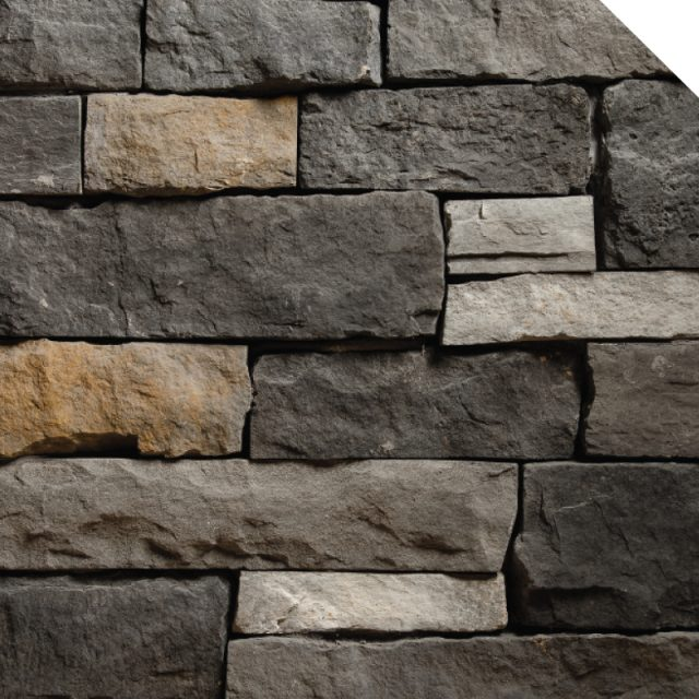 Ledge Cobble Stone Black Rundle | Les Pierres Royales | Fabricant de Pierres Décoratives | Intérieur-Extérieur