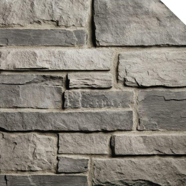 Ledge Cobble Stone Charcoal | Les Pierres Royales | Fabricant de Pierres Décoratives | Intérieur-Extérieur