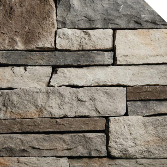 Ledge Cobble Stone Titane | Les Pierres Royales | Fabricant de Pierres Décoratives | Intérieur-Extérieur